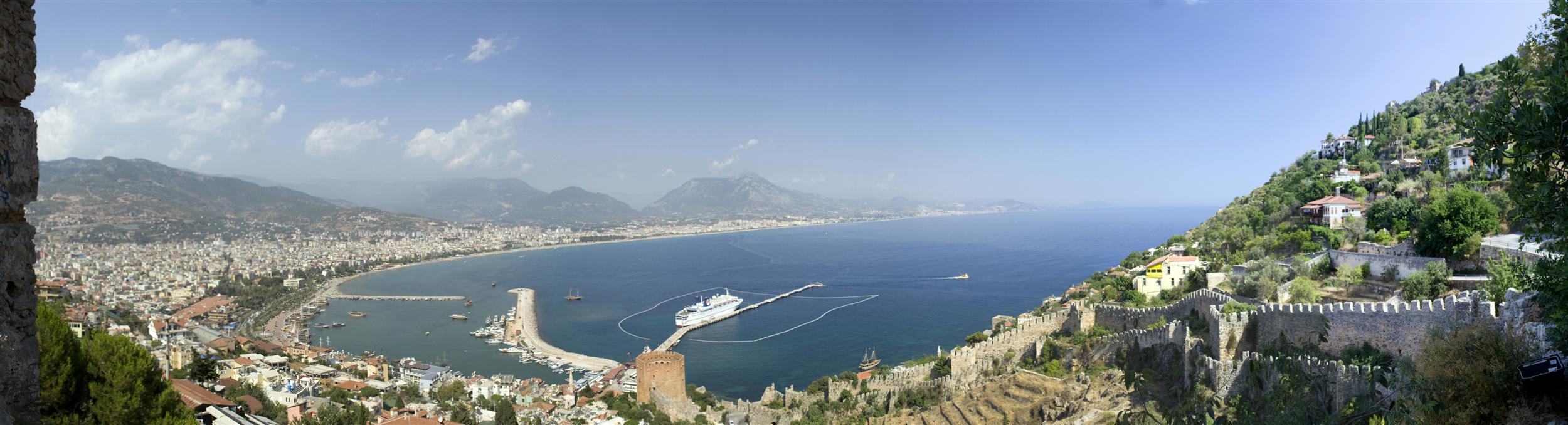 Alanya harbour Panorama